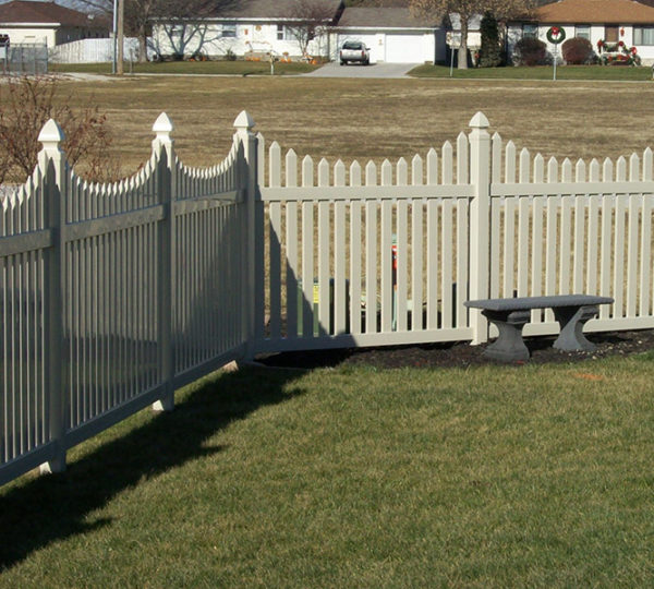3' Courtyard Picket Fence-493
