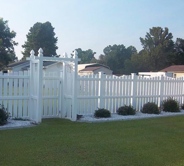 4' Terrace Semi-Privacy Fence-555