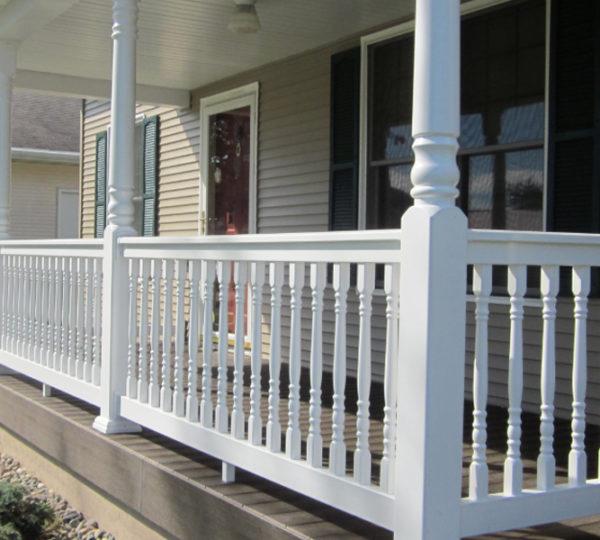 3.5' Denali White Colonial Railing Closeup