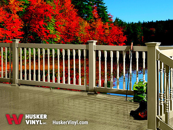 3.5' Keystone Colonial Railing With Changing Fall Tree Colors