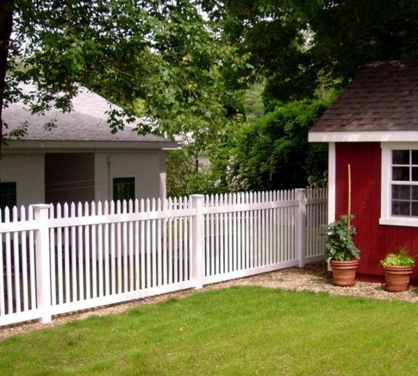 3.5' Aspen Picket Fence-0