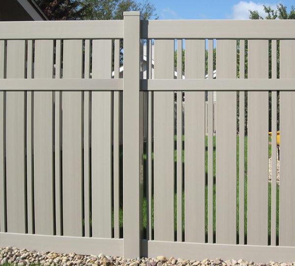Sandstone 5' Husker Semi-Privacy Fencing