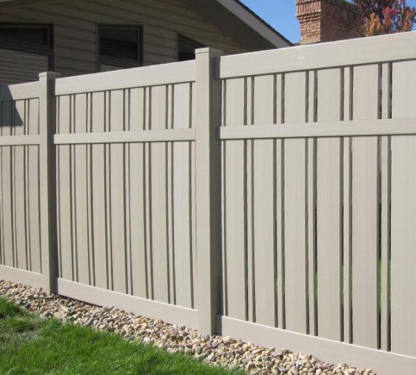 6' Khaki Husker Semi-Privacy Fence